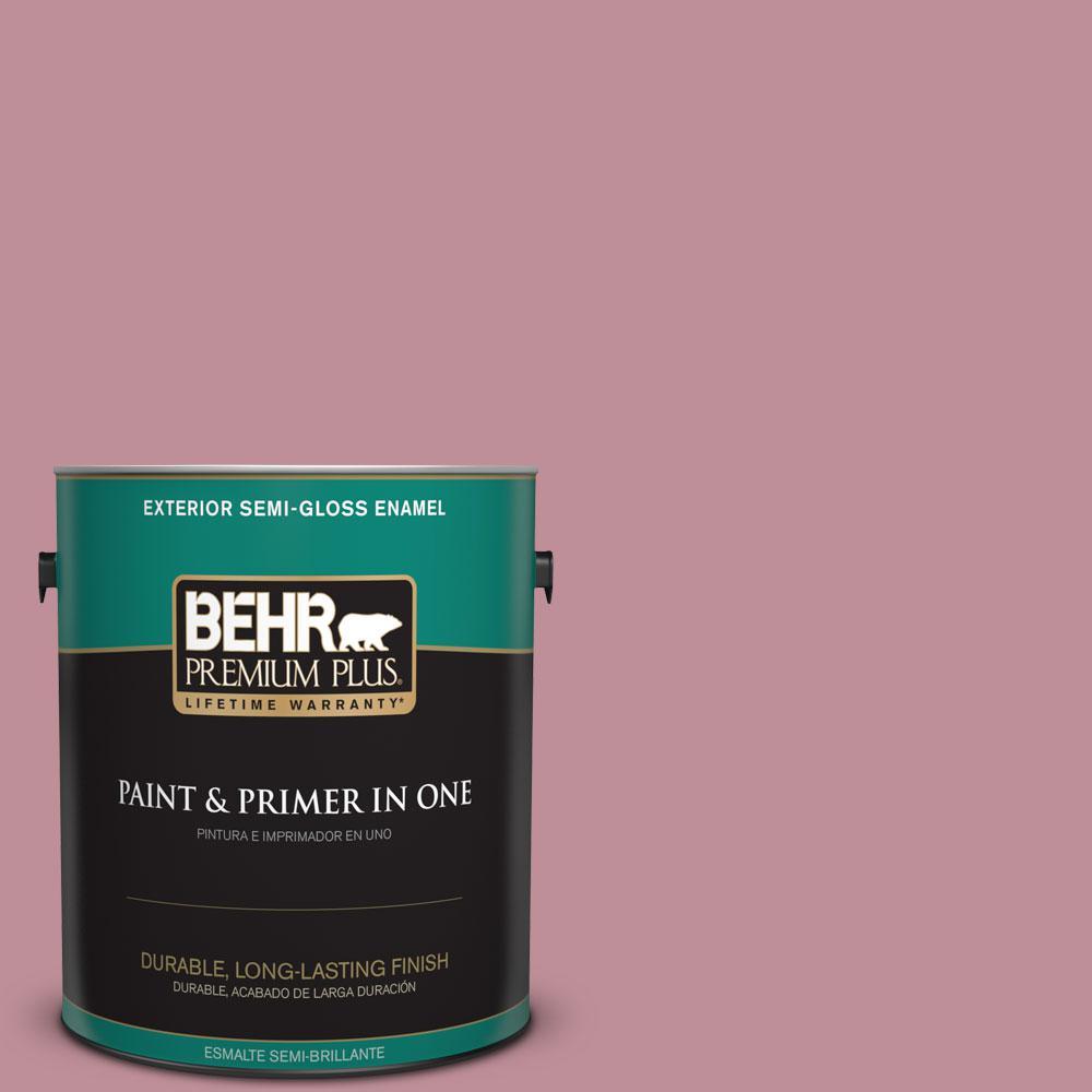 1-gal. #S130-4 Cherry Juice Semi-Gloss Enamel Exterior Paint