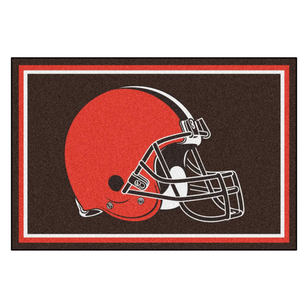 7e752629 FANMATS NFL Cleveland Browns Brown 5 ft. x 8 ft. Area Rug