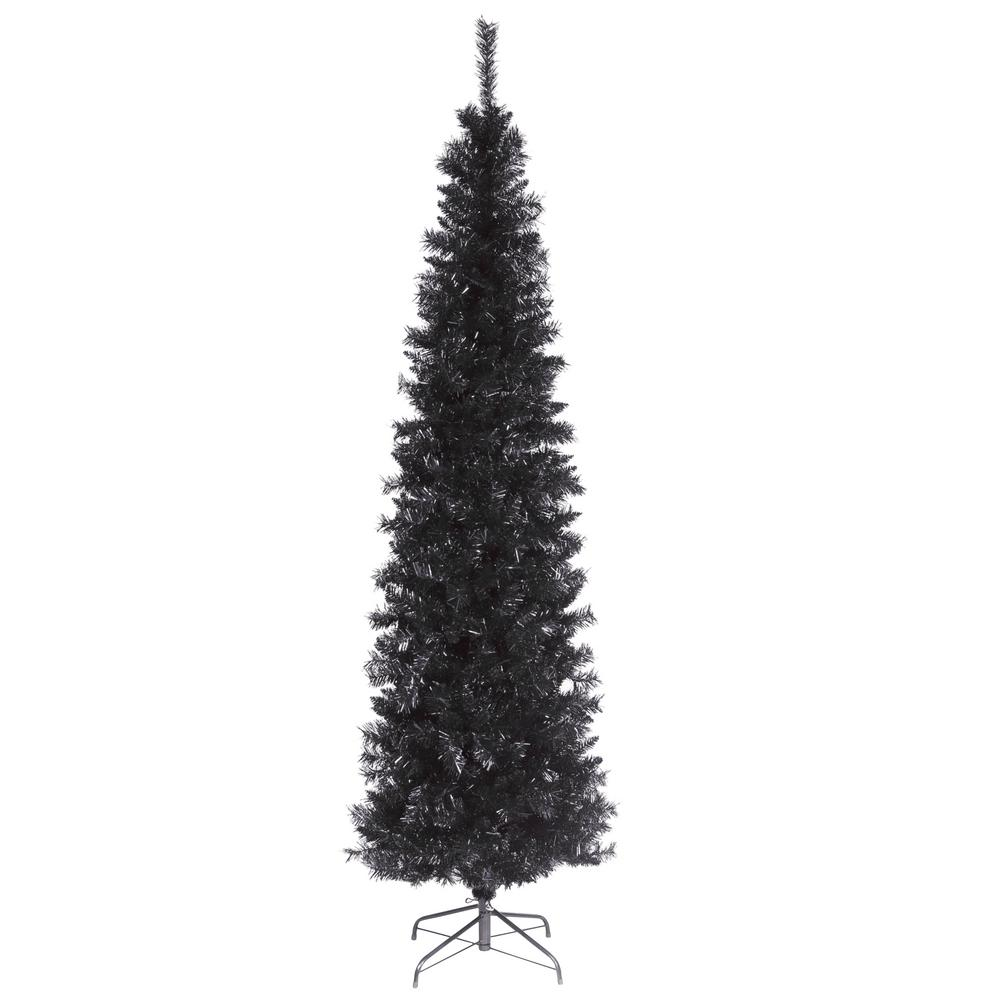 6 ft. Black Tinsel Artificial Christmas Tree