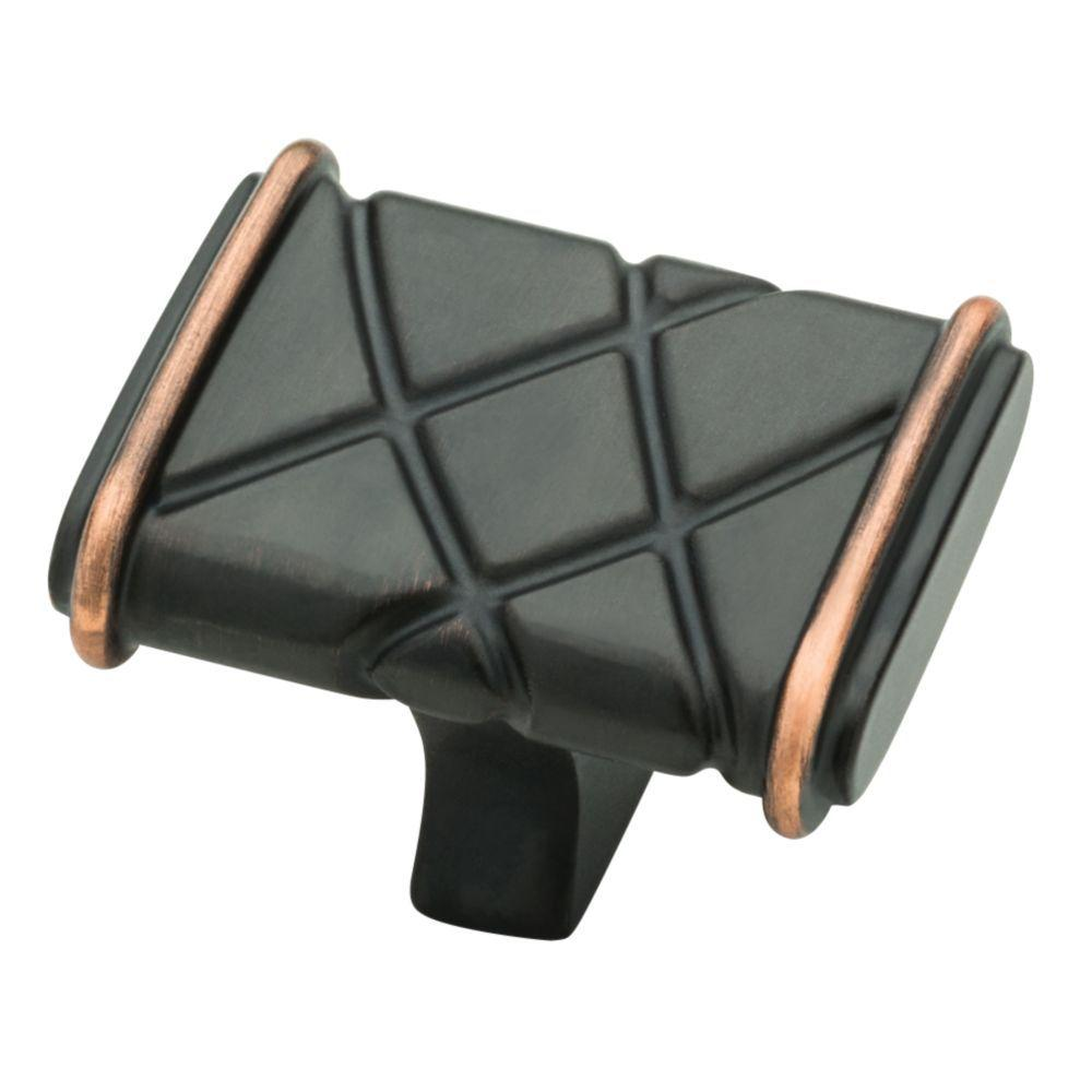 Bainsbury 1-1/2 in. Venetian Bronze with Copper Highlights Cabinet Knob