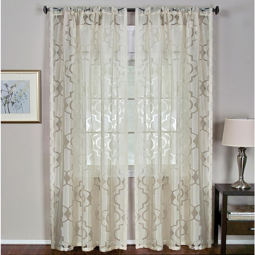 Lichtenberg Sheer Multi Eden Printed Textured Sheer