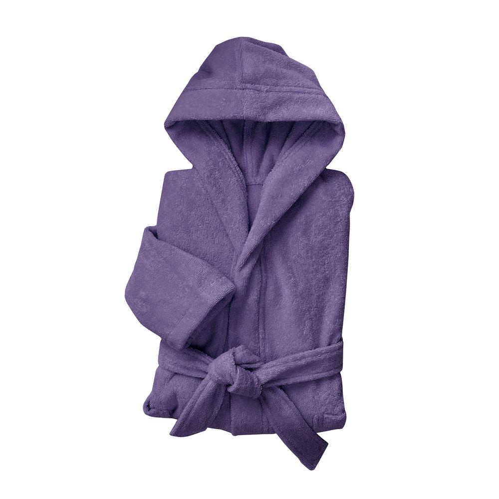1e3134d7de The Company Store Company Cotton Women s Small Medium Purple Hooded Bath  Robe-RL06-SM-PURPLE - The Home Depot