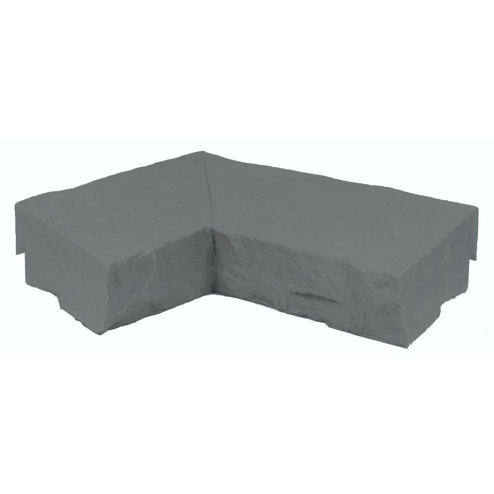NextStone Sandstone Graphite 9.72 in. x 7.5 in. Faux Stone Ledger Inside Corner (2-Pack)