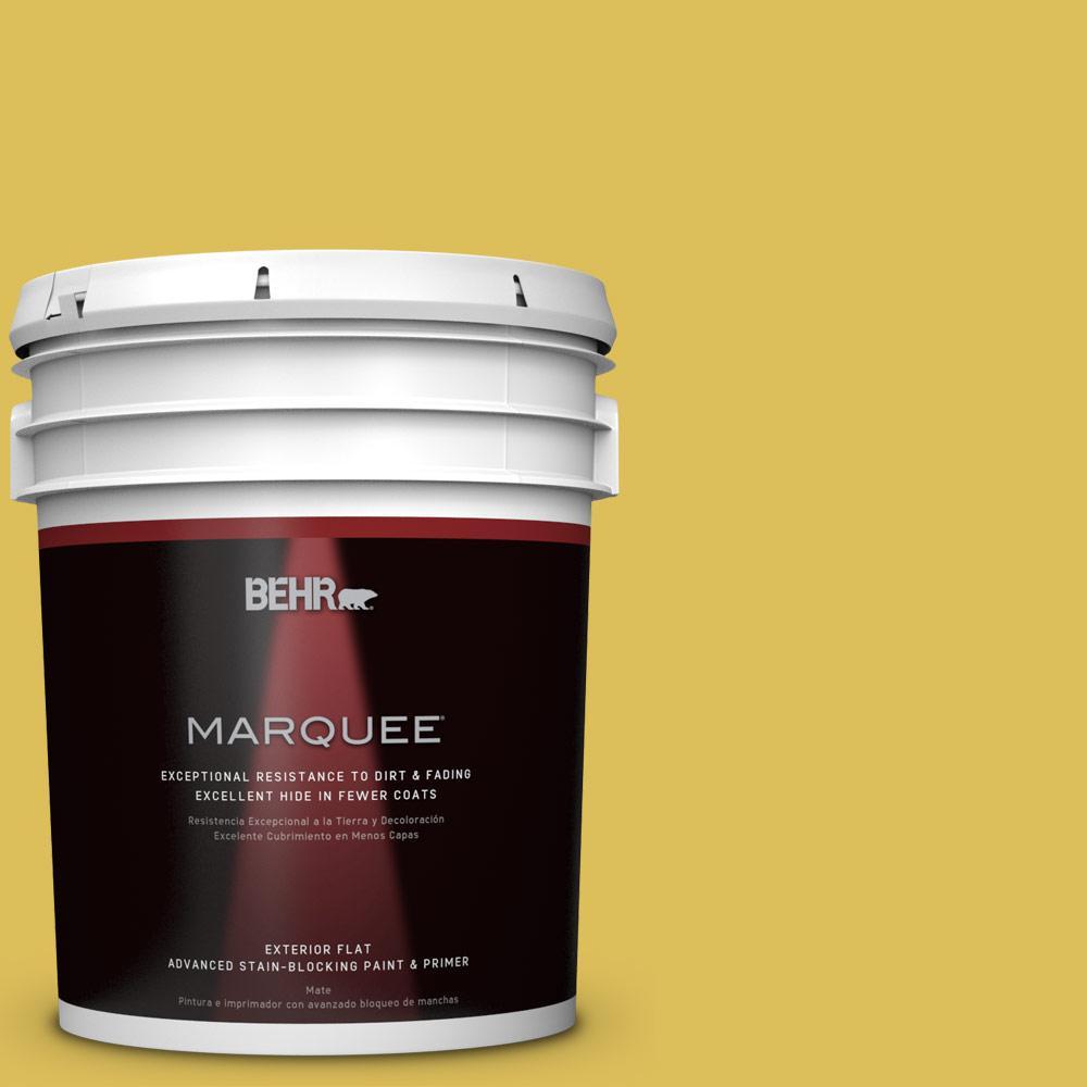 5-gal. #P320-6 Sulfur Yellow Flat Exterior Paint