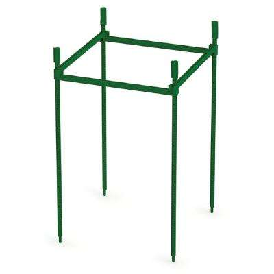 12.5 in. City Pickers Resin Crop Prop Modular Outdoor Plant Stand Trellis System, Build as Your Plants Grow