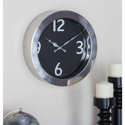 Black and Silver Modern Analog Wall Clock