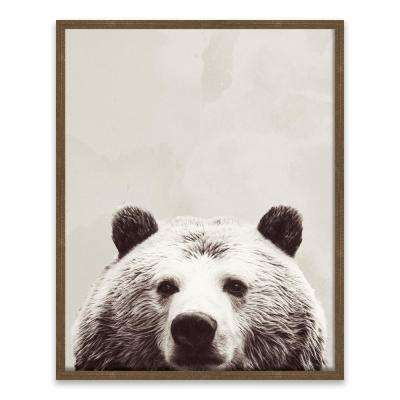 """Friendly Bear"" by SD Graphics Studio Wood Wall Art"