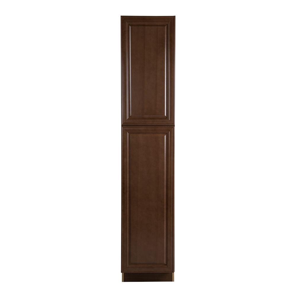Hampton Bay Benton Assembled 18x90x24 In Pantry Cabinet In Butterscotch Bt1890p Bt The Home Depot