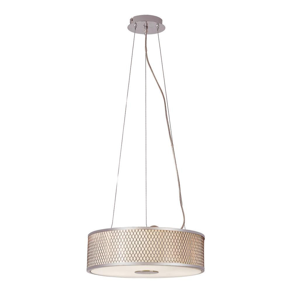 Bel Air Lighting Cardiff 3-Light Polished Chrome Pendant