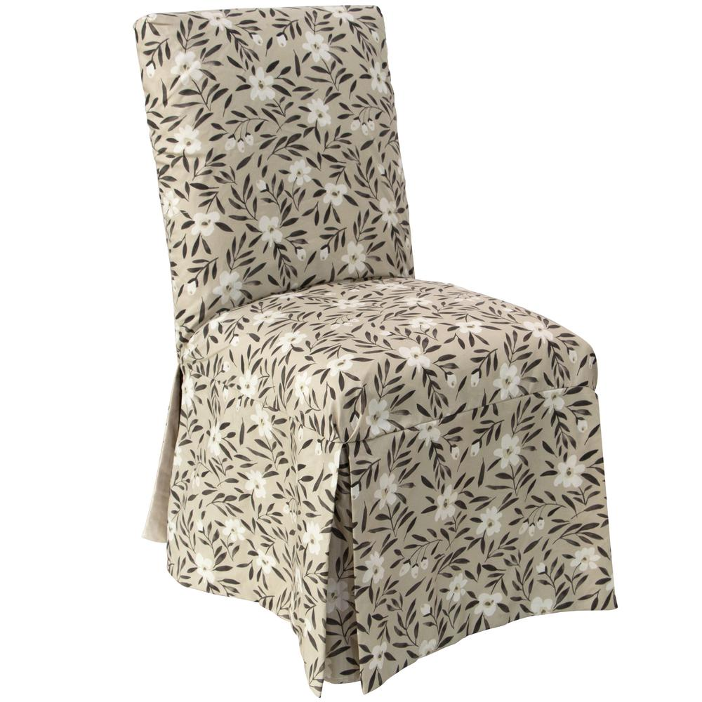 dining room chair slipcovers floral design | Skyline Furniture Fiona Floral Natural Slipcover Dining ...