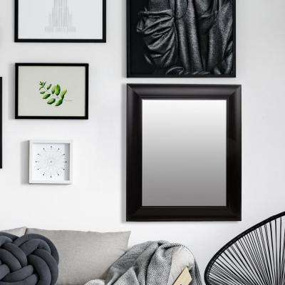 Bainbri Rectangular Beveled Black Wall Mirror
