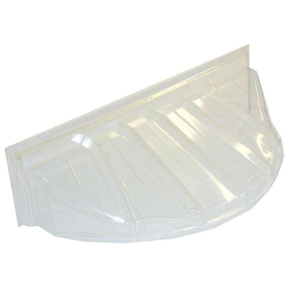 18 in. x 12 in. Polyethylene Circular Bubble Window Well Cover