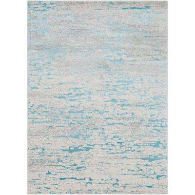 Sagara Teal 8 ft. x 10 ft. Area Rug