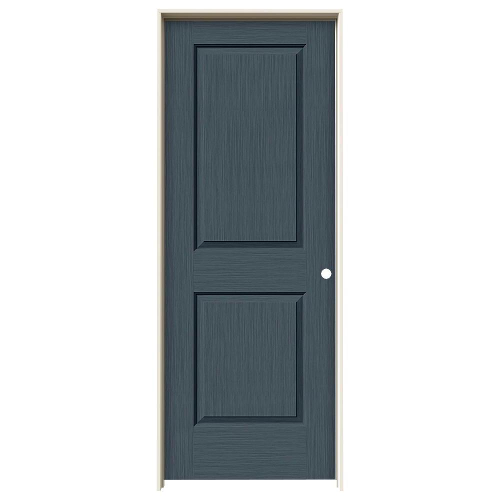 30 in. x 80 in. Cambridge Denim Stain Left-Hand Solid Core