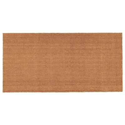Natural 36 in. x 72 in. Coir and Vinyl Door Mat