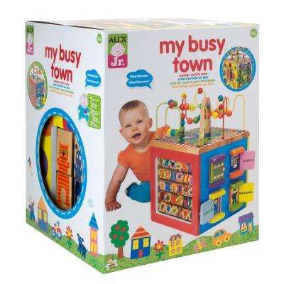 Jr. My Busy Town Wooden Activity Cube