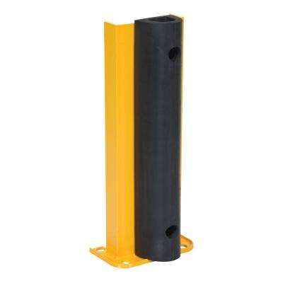 24 in. Wide Yellow Steel Structural Rack Guard with Rubber Bumper