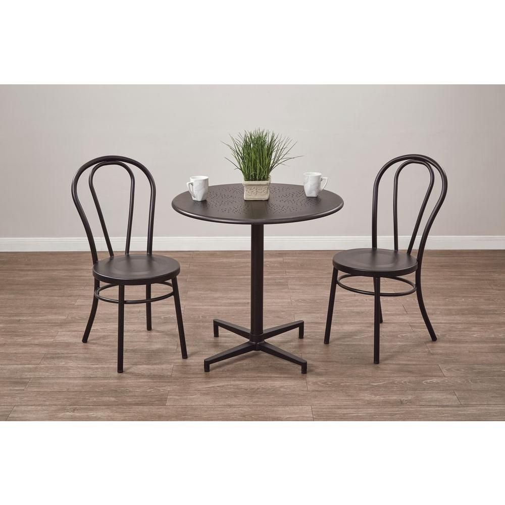 OSP Home Furnishings Oxton Matte Black Folding Table, Mattle Black OSP Home Furnishings Oxton Matte Black Folding Table, Mattle Black