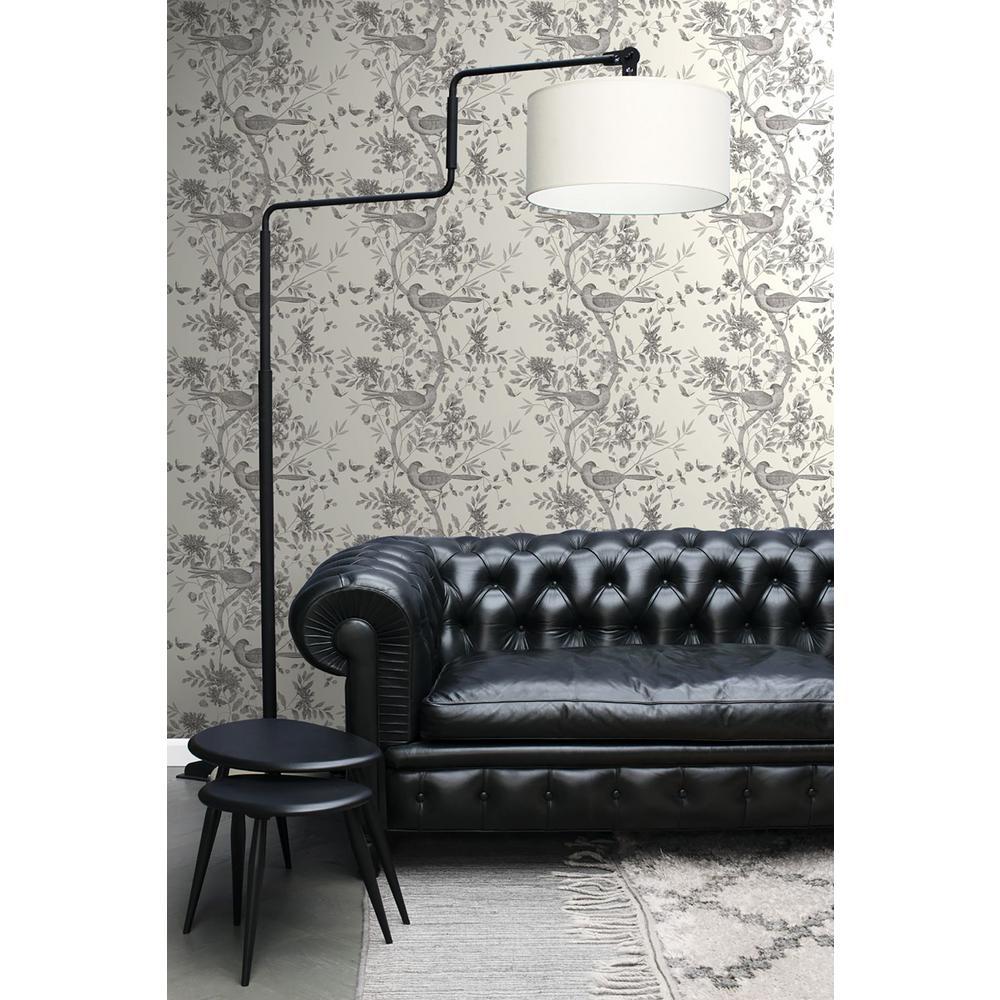 56.4 sq. ft. Sharpay Cream Trail Strippable Wallpaper