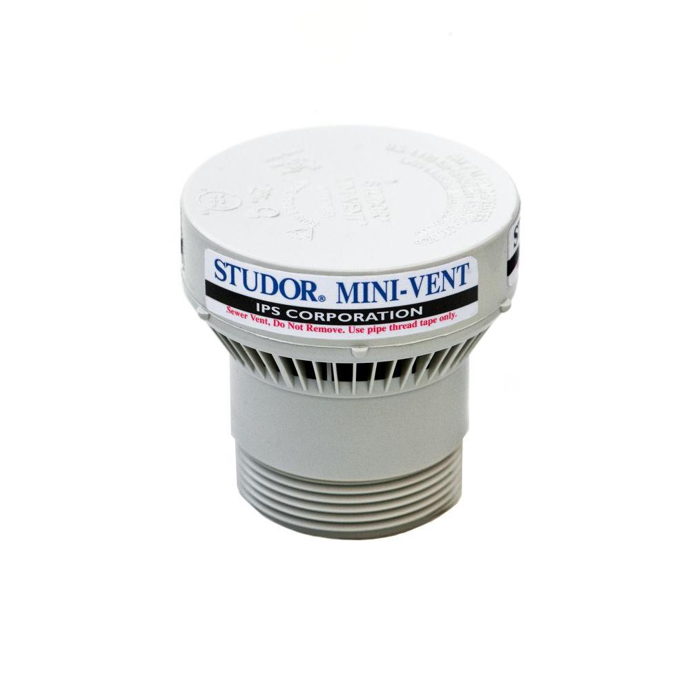 Studor Mini Vent 1 1 2 In 2 In Pvc Air Admittance
