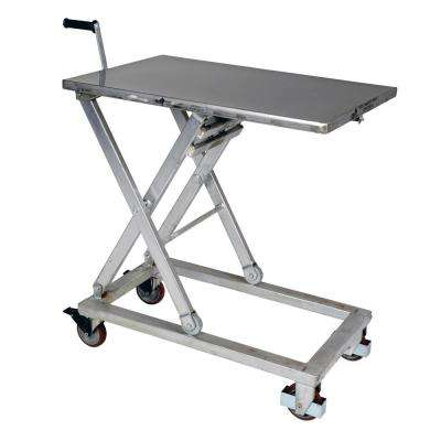660 lb. 37 in. x 23.5 in. Partial Stainless Steel Mechanical Cart