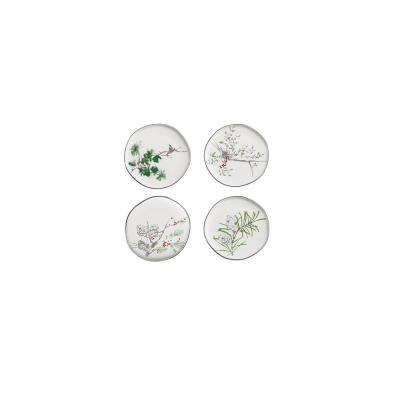 A Walk in the Woods White Appetizer Plates (Set of 4)