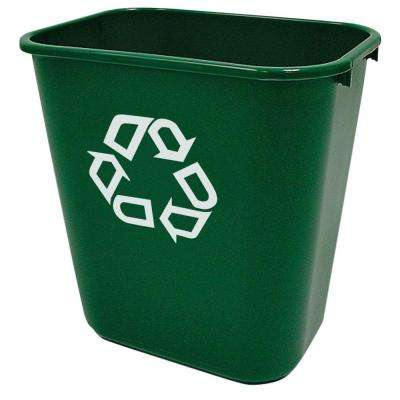 15 in. H x 10.2 in. W, 7.03 Gal. Capacity Rectangular Green Symbol Indoor Recycling Bin (12-Pack)