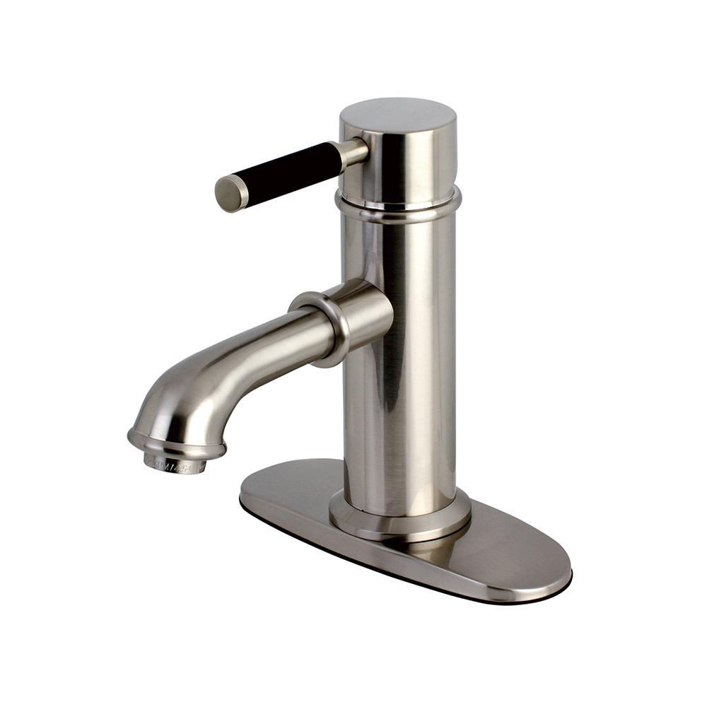 Fusion Single Hole Single-Handle Bathroom Faucet in Satin Nickel