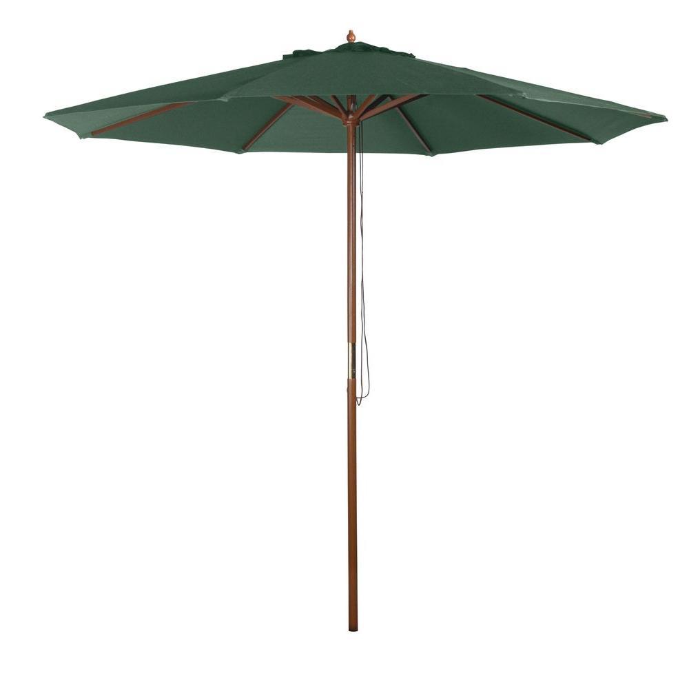 9 ft. Market Patio Umbrella in Green