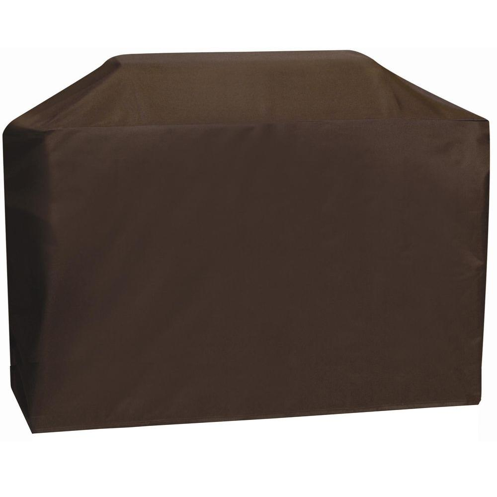 Two Dogs Designs 53 in. Chocolate Brown Long Cart Style Grill Cover-DISCONTINUED