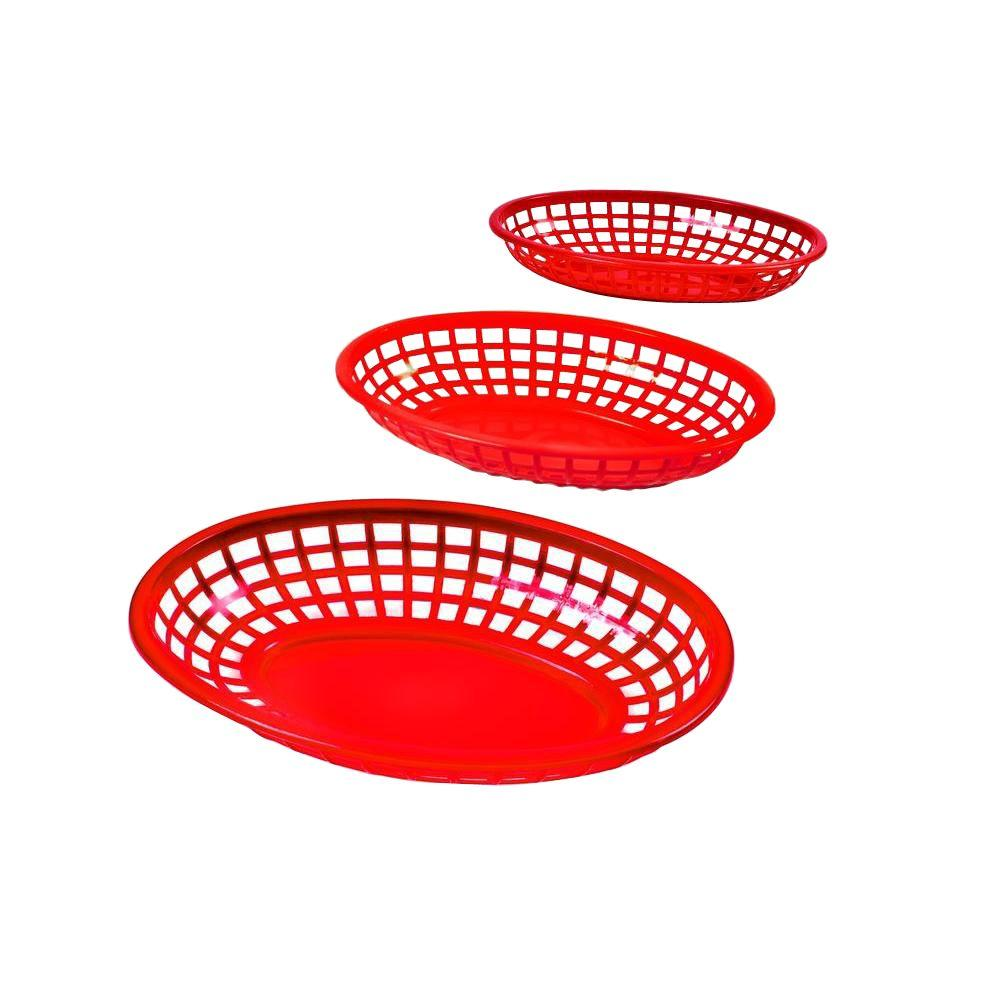 Plastic Serving Baskets and Liners Set