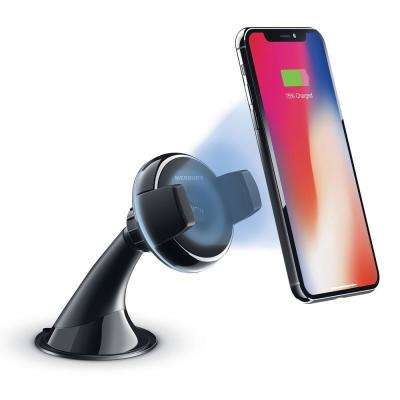 Qi Certified Wireless Fast Charge Car Mount for Dashboard and Windshield
