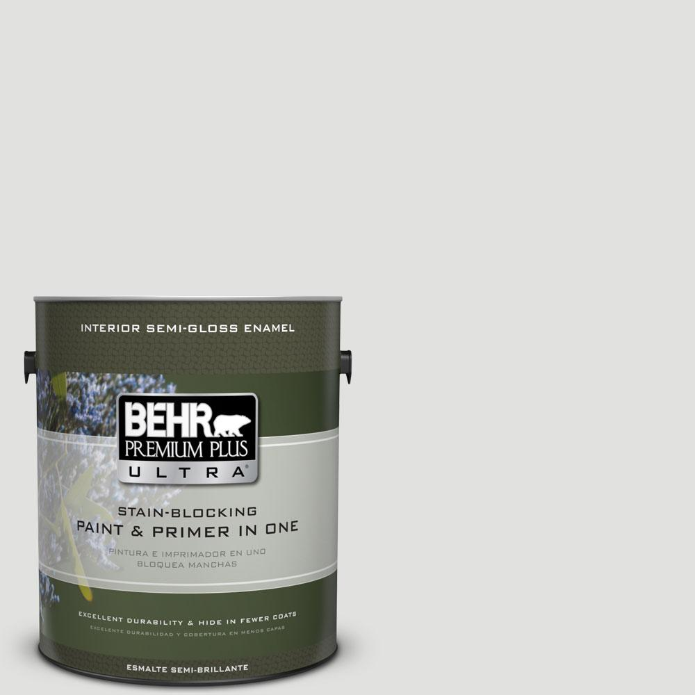 1-gal. #BL-W13 Silver Polish Semi-Gloss Enamel Interior Paint