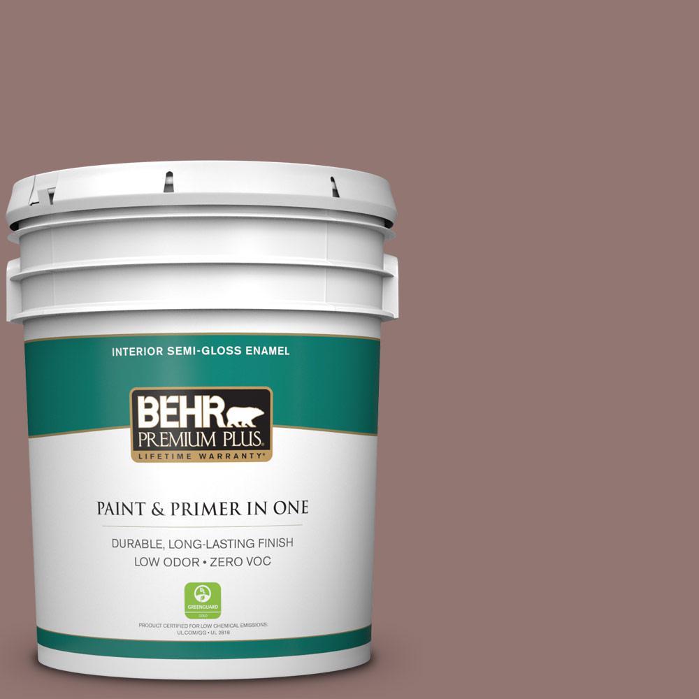 5 gal. #710B-5 Milk Chocolate Semi-Gloss Enamel Zero VOC Interior Paint