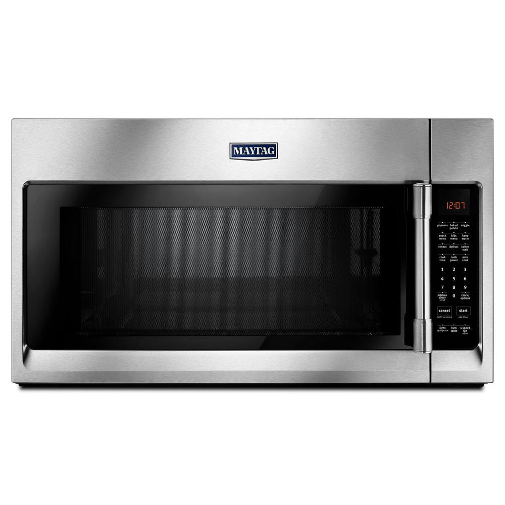 Maytag 2.1 cu. ft. Over the Range Microwave in Fingerprint Resistant Stainless Steel