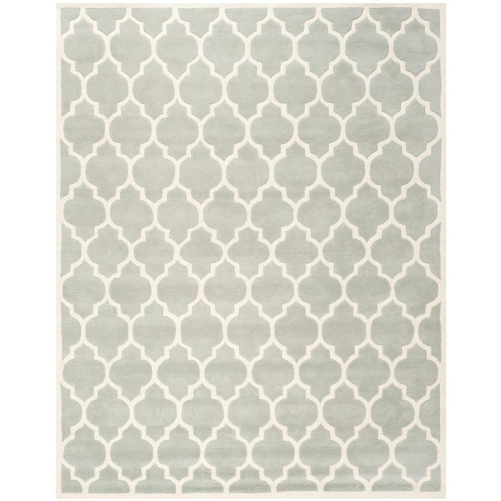 Safavieh Chatham Grey/Ivory 8 ft. x 10 ft. Area Rug