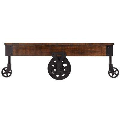 Grove Place Distressed Cocoa Mobile Coffee Table