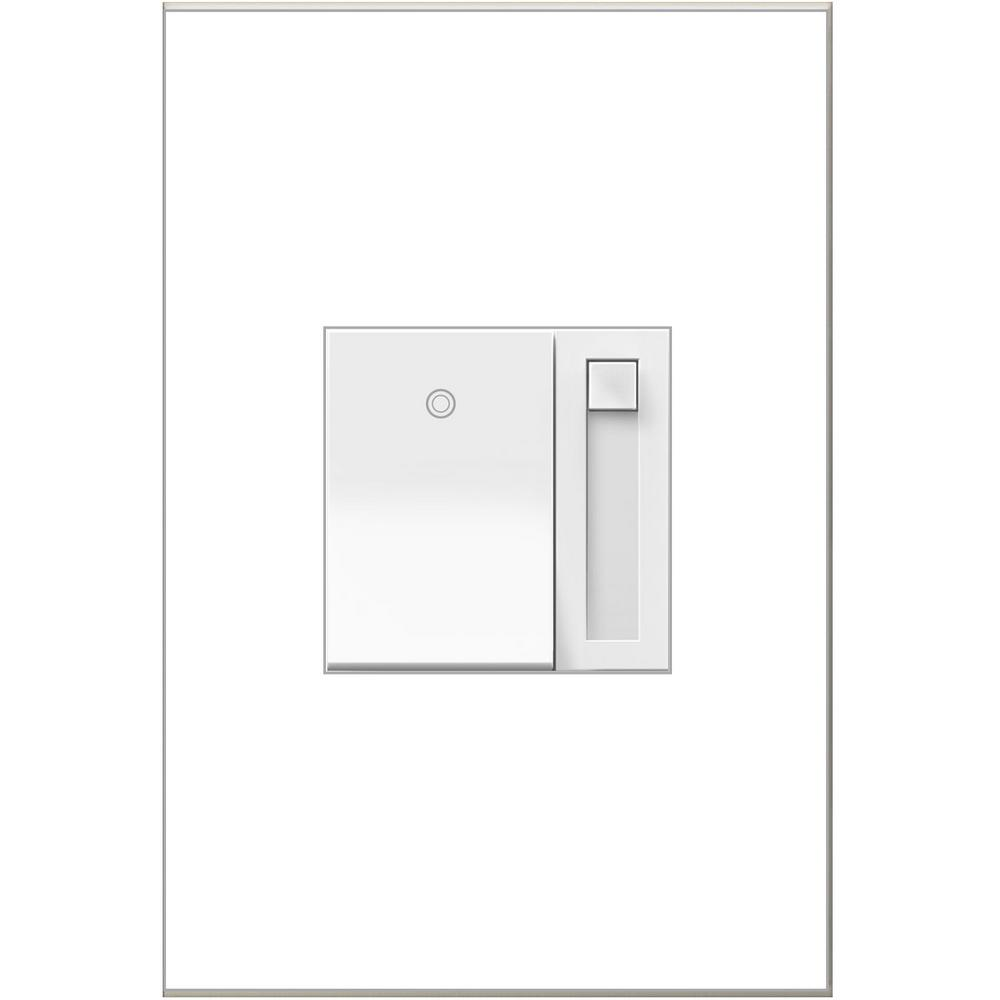 Legrand adorne 1100-Watt Single Pole 3-Way for Incandescent and Halogen Lights Paddle Dimmer, White
