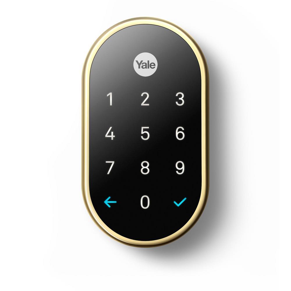 Nest x Yale Lock Polished Brass with Google Nest Connect