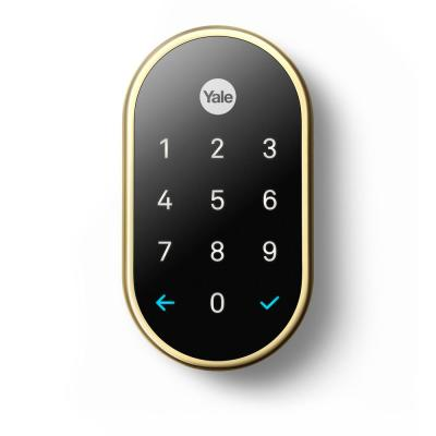 Nest x Yale Lock Polished Brass with Google Nest Connect