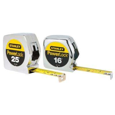 PowerLock 25 ft. and 16 ft. Tape Measures (2-Pack)