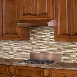 Milano Sasso 11.55 in. W x 9.65 in. H Peel and Stick Decorative Mosaic Wall Tile Backsplash (6-Pack)