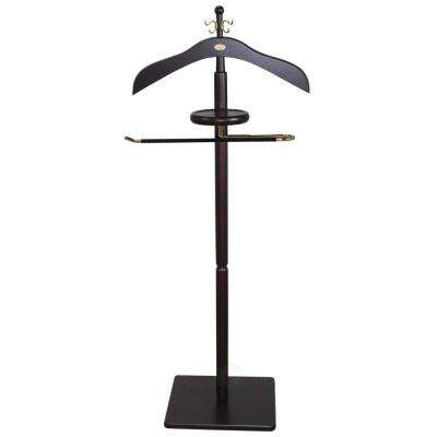 17.8 in. Wide x 12 in. Depth x 43 in. High Wood Mens Valets with Cherry Finish, Suit Valet Rack Stand