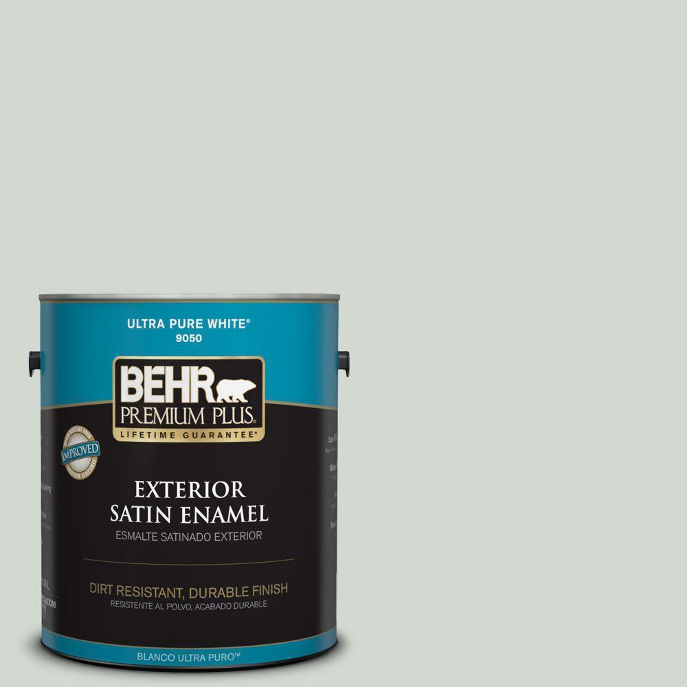 BEHR Premium Plus Home Decorators Collection 1-gal. #HDC-CT-23 Wind Fresh White Satin Enamel Exterior Paint