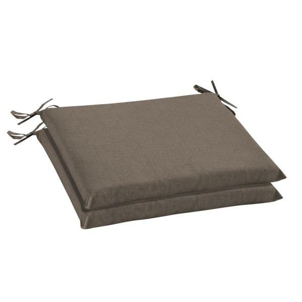 Oak Cliff 20 x 18 Sunbrella Cast Shale Outdoor Chair Cushion (2-Pack)