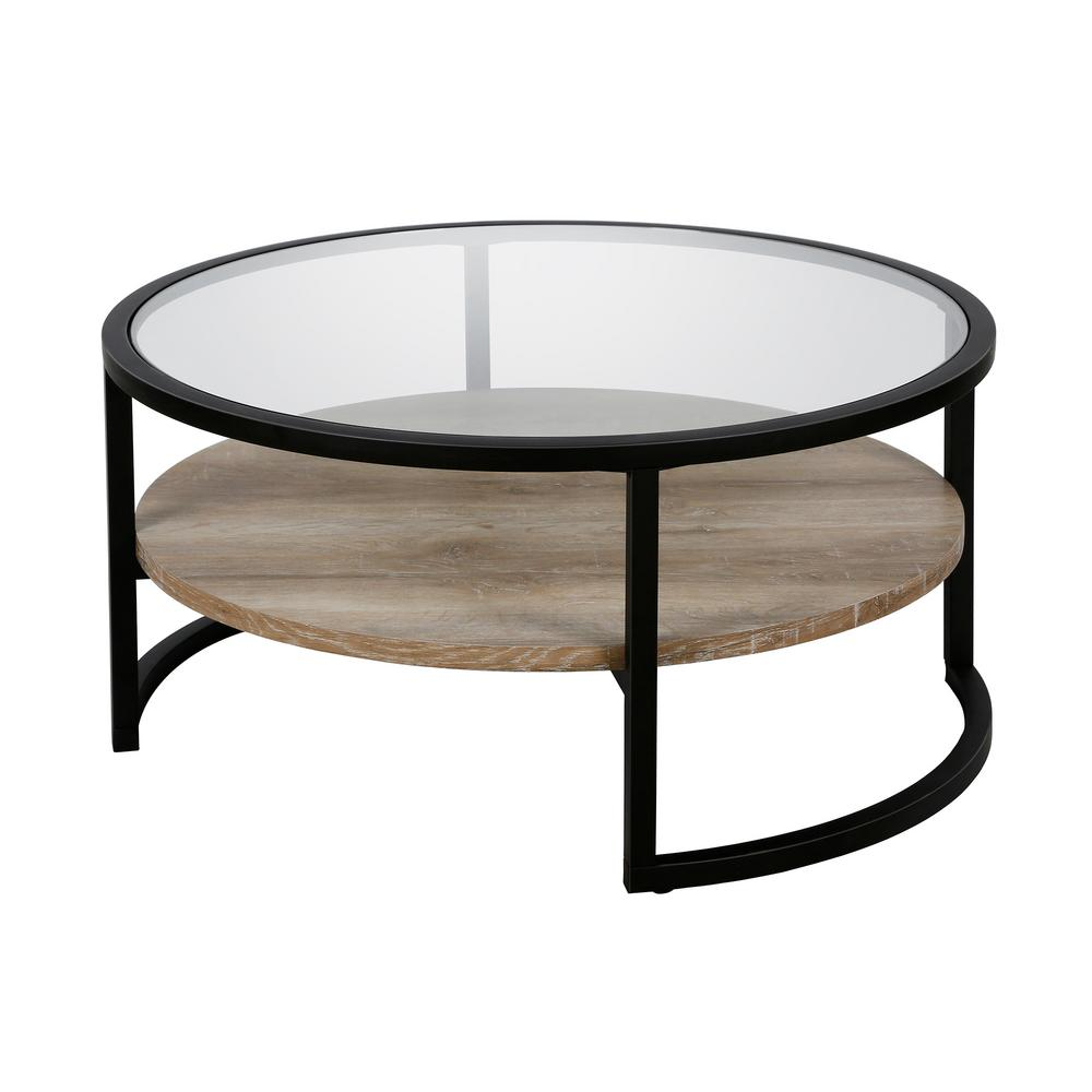 - Meyer&Cross Winston Blackened Bronze Round Coffee Table With Limed