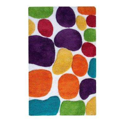 Pebbles Brights Rainbow Multi 2 ft. x 3 ft. Indoor Bath Rug