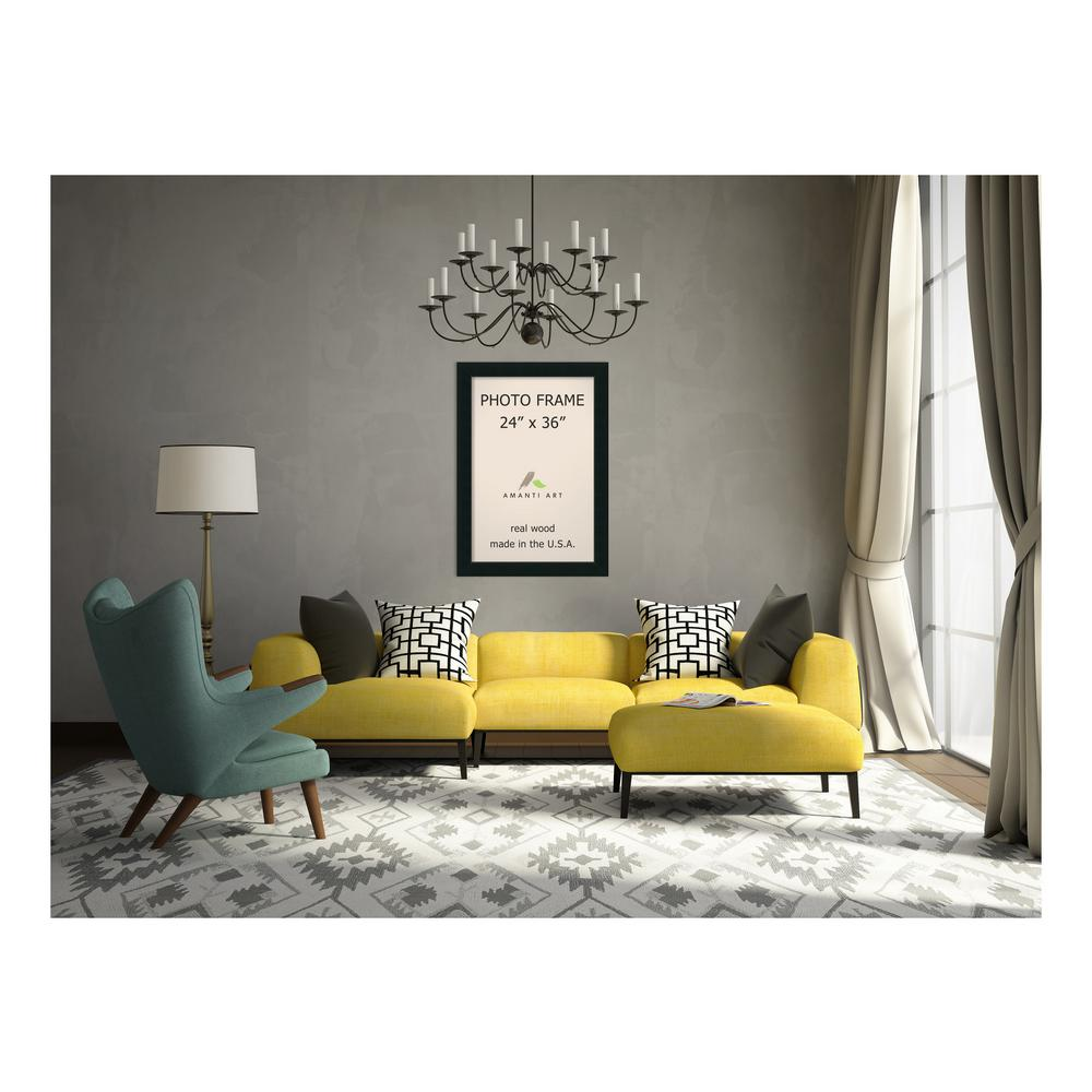 Amanti Art Corvino 24 in. x 36 in. Black Picture Frame-DSW1385399 ...