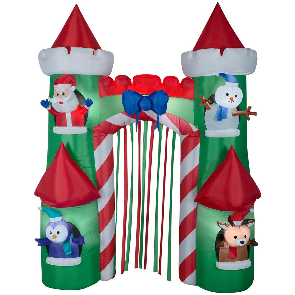 Gemmy Christmas Inflatables 2019.Gemmy 9 Ft H Airblown Archway Santa S Castle