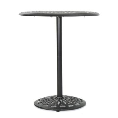 Hannah 41.25 in. Shiny Copper Round Aluminum Outdoor Bistro Table